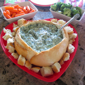 Less Guilty Spinach Dip